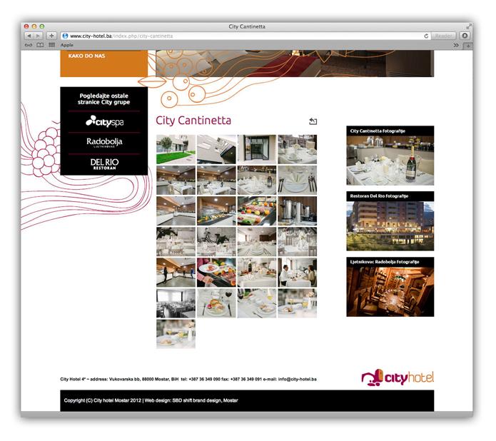 hotel web stranica dizajn shift mostar