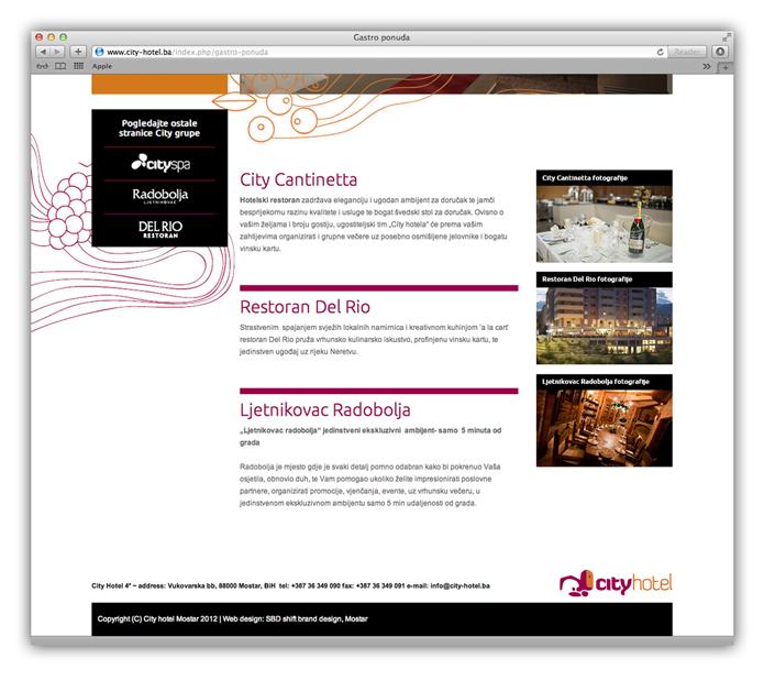mostar city hotel web stranica