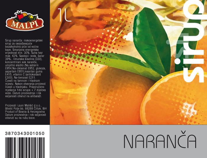 etiketa naranča