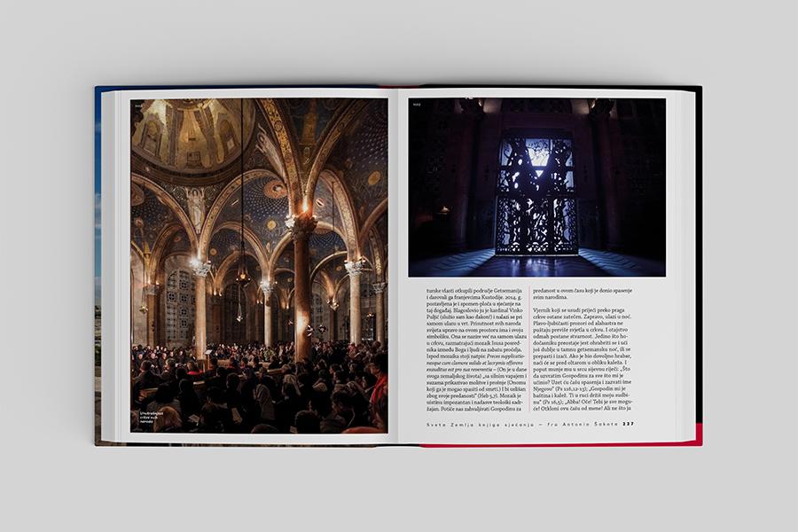 Grafički dizajn knjige «Sveta Zemlja knjiga sjećanja» Shift agencija book layout