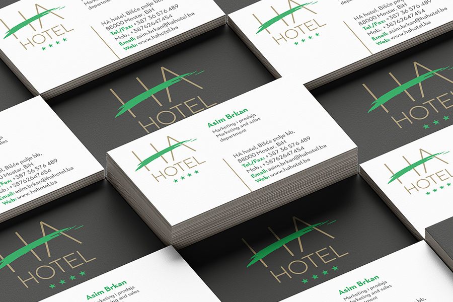 Visual Identity for a new hotel in Mostar