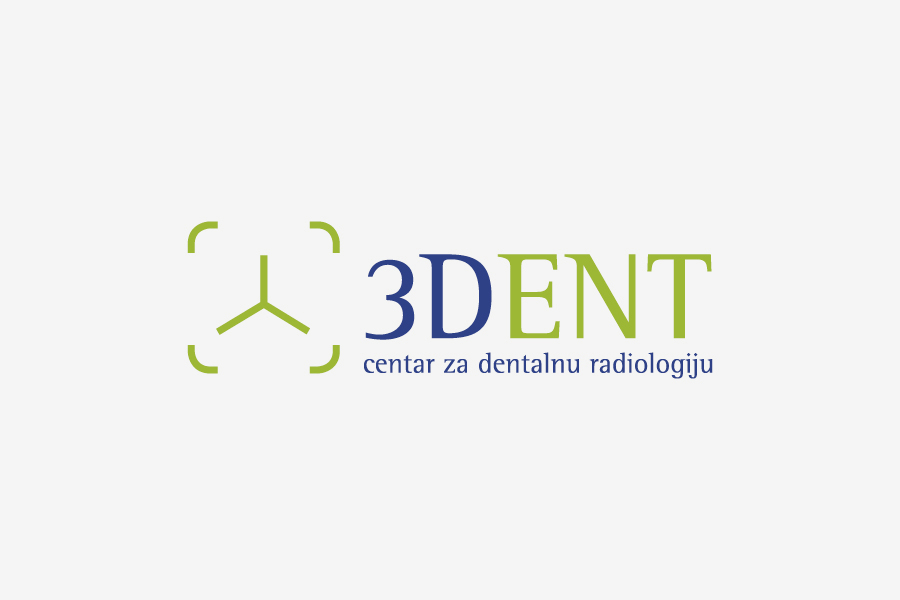 vizualni identitet 3DENT  centar za dentalnu radiologiju dizajn shift agencija mostar