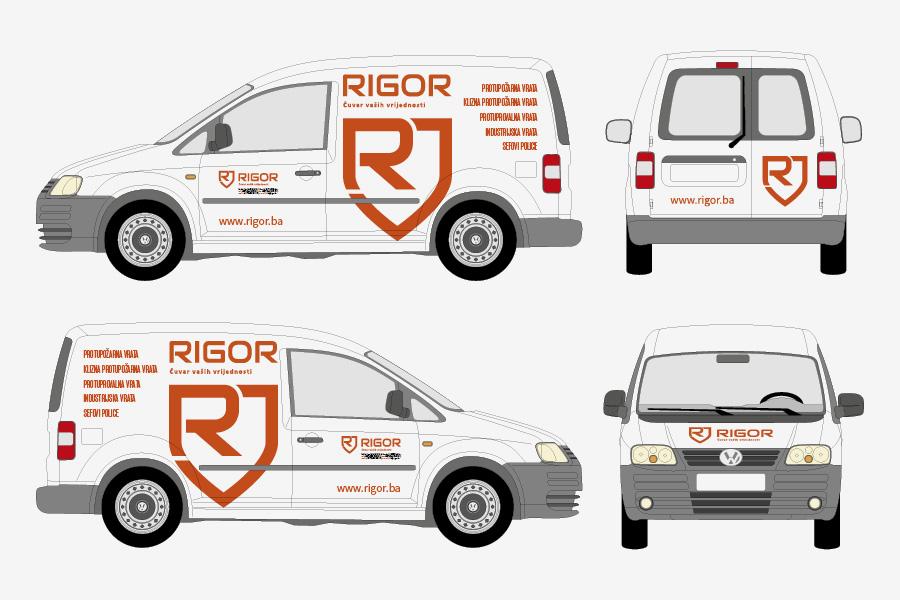 Vizualni identitet tvrtke Rigor službeni automobil