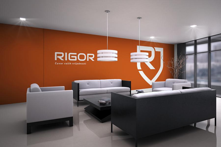 Vizualni identitet tvrtke Rigor interijer