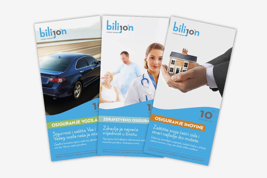 Vizualni identitet Bilijon d.o.o. dizajn brošure