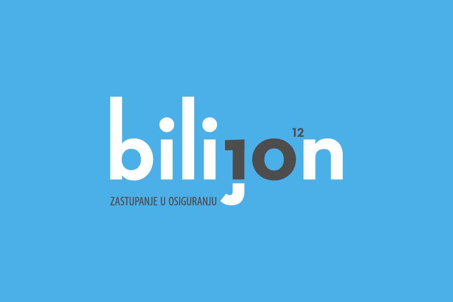 Vizualni identitet Bilijon dizajn logotipa shift