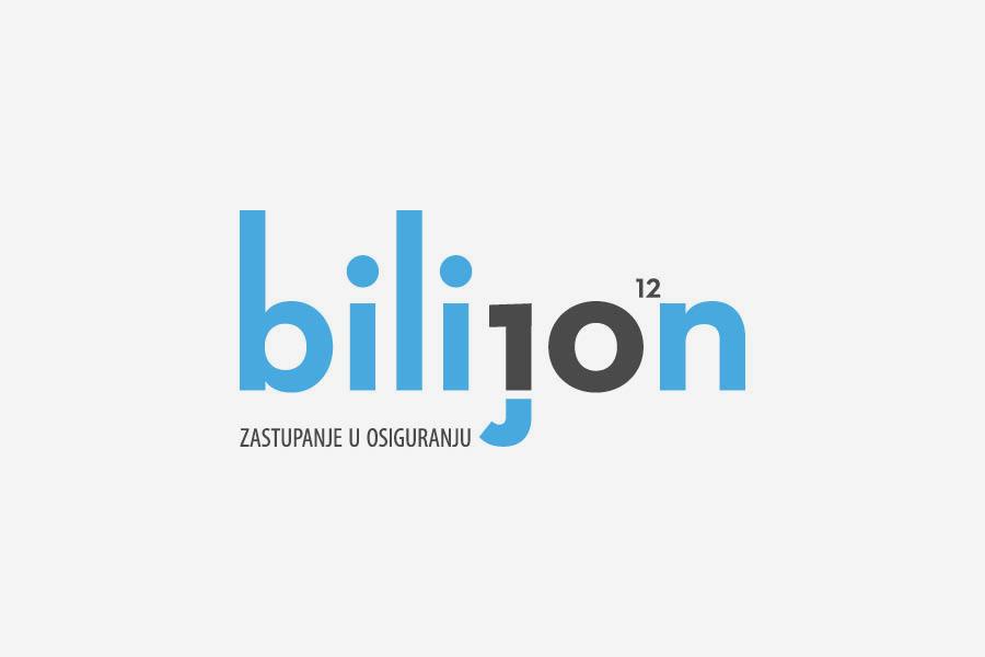 Vizualni identitet Bilijon dizajn logotipa shift agencija