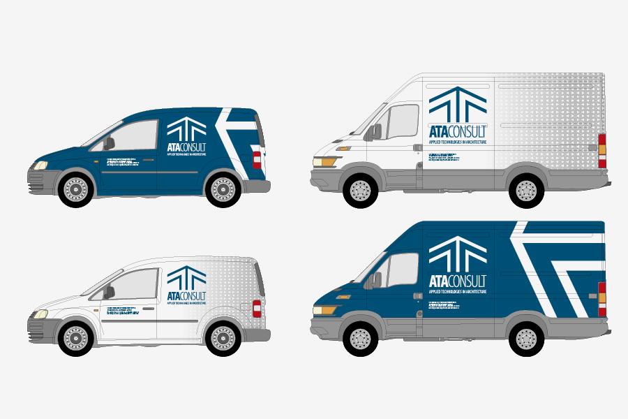 aplikacija logotipa oslikavanje vozila ata consult gmbh shift