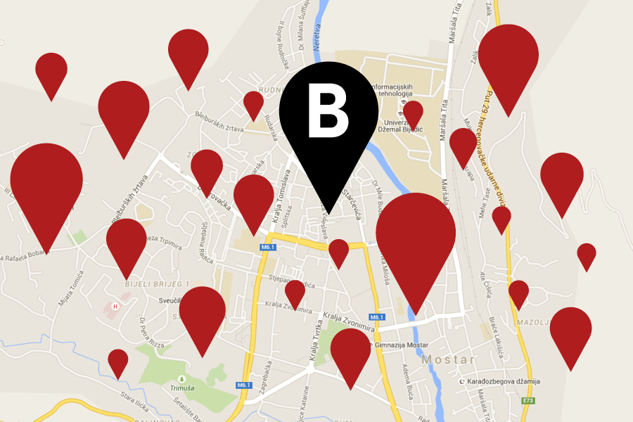 vizualni identitet kluba bazza mostar karta