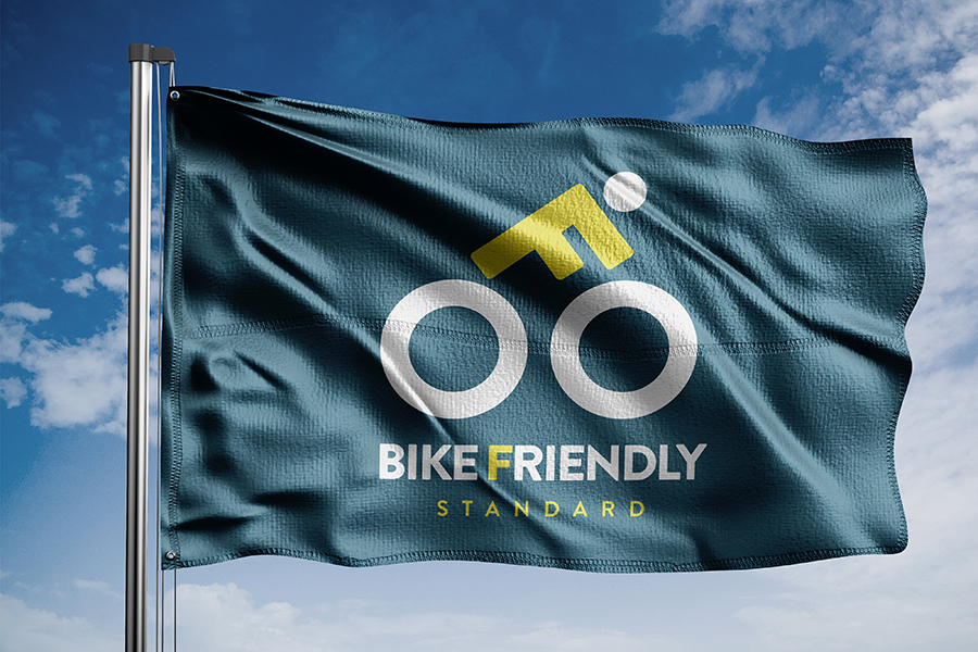Dizajn logotipa i vizualnog identiteta Bike Friendly Standarda zastava