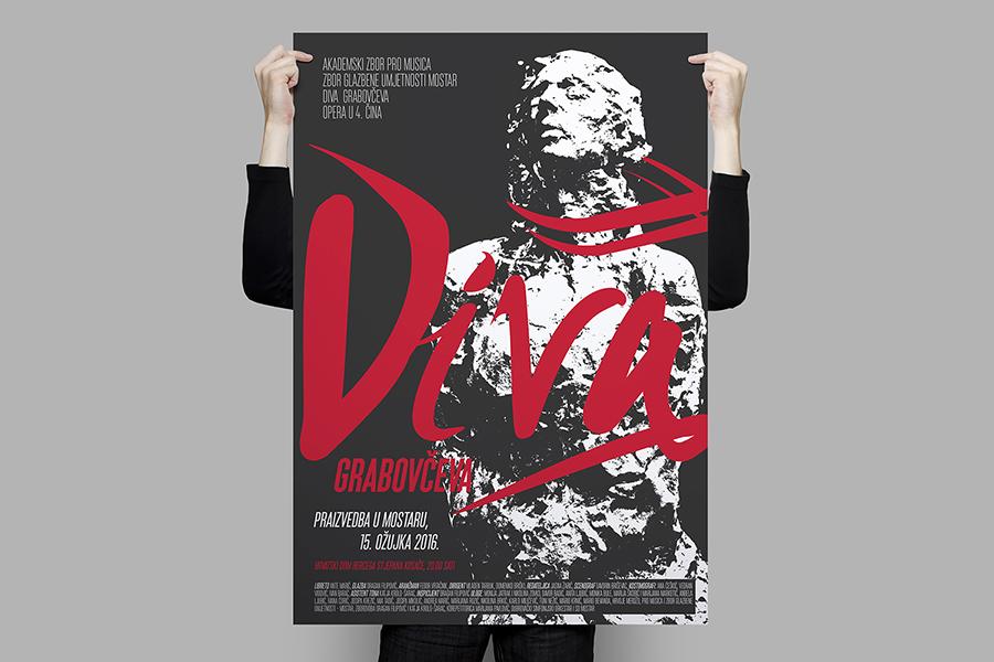 plakat prva hrvatska opera diva grabovčeva grafički dizajn shift
