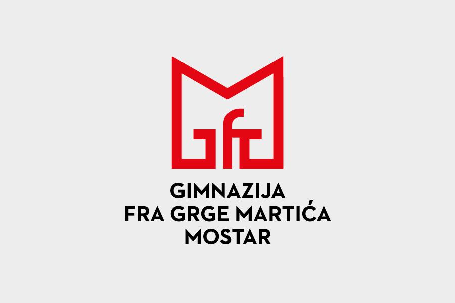 Visual Identity Design for Gymnasium High School logo positive negative