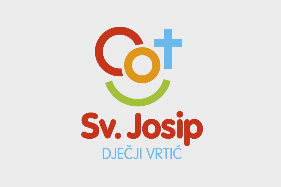 Vizualni identitet dječjeg vrtića Sv. Josip u Mostaru dizajn logotipa shift agencija