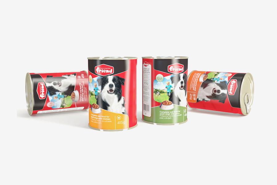 dizajn ambalaže friend hrana za pse i mačke