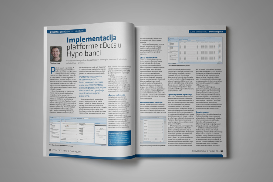 Dizajn informativnog časopisa FYI layout sbd