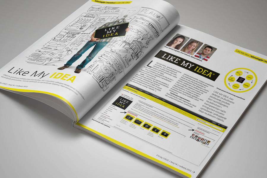 Dizajn informativnog časopisa FYI, dizajn shift