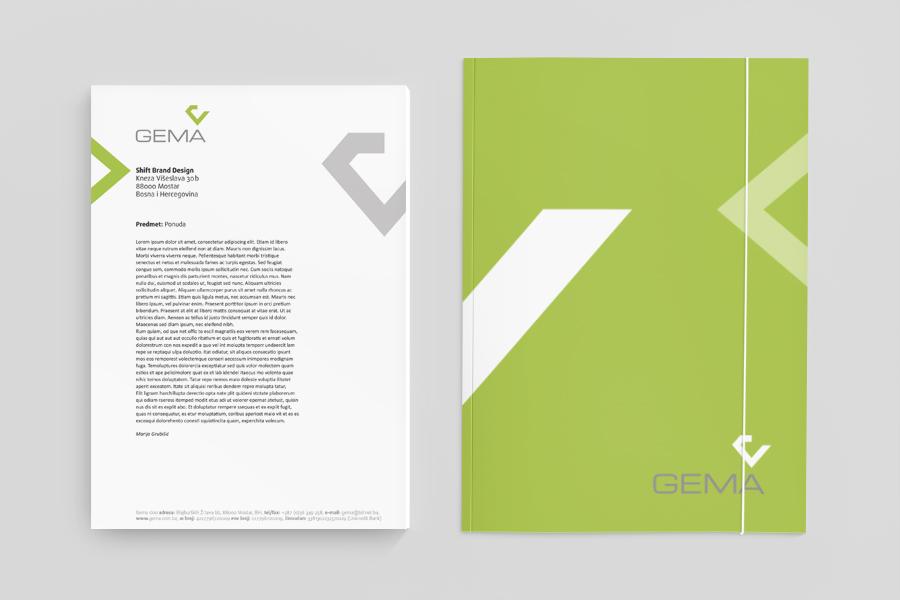 vizualni identitet gema dizajn logotipa