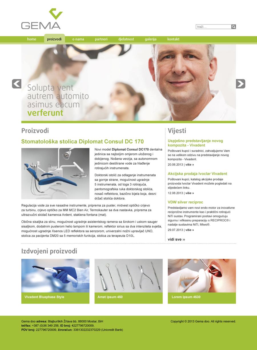 vizualni identitet gema d.o.o. web dizajn