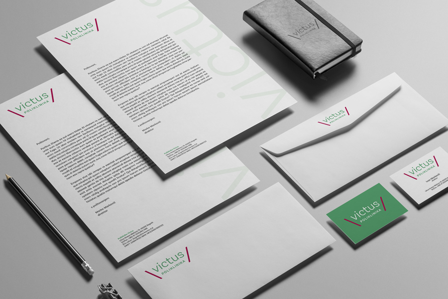 Identity and signage for the urological clinic graphic design