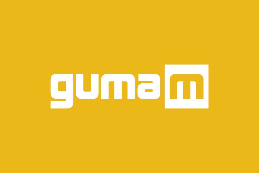 Logotip autokuća GumaM, negativ