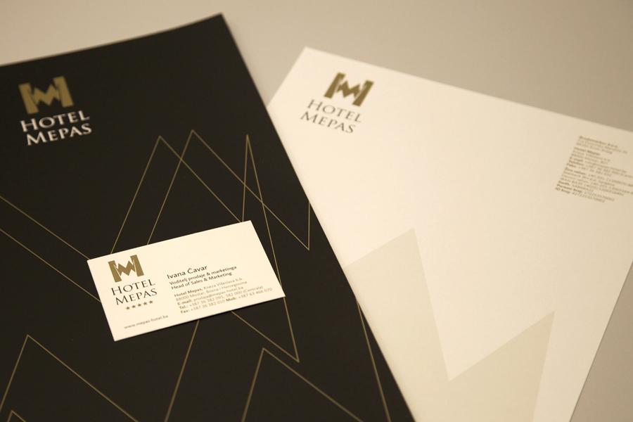 vizualni identitet hotel mepas mostar memorandum shift agencija