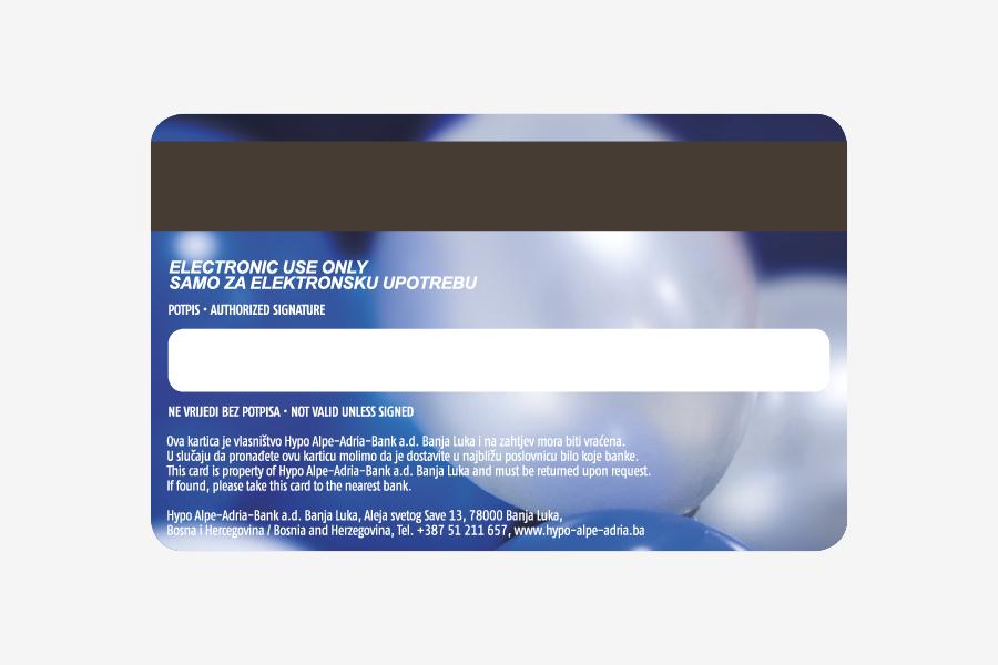 Dizajn Visa prepaid kartice, rođendanska kartica hypo