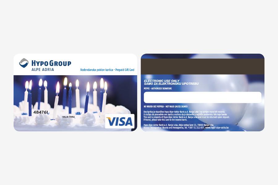 Dizajn Visa prepaid kartice, poklon kartica, shift agencija