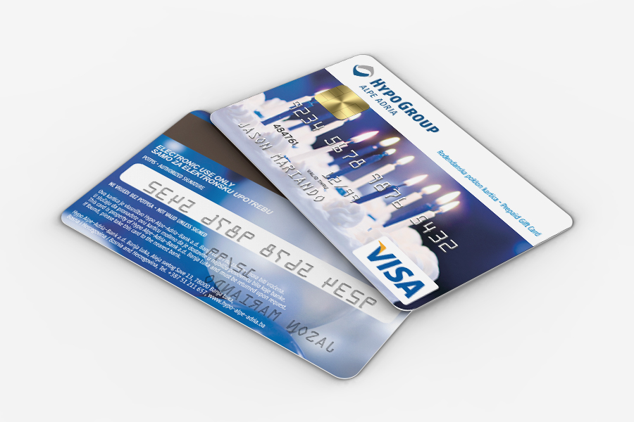 Dizajn Visa prepaid kartice, hypo , shift