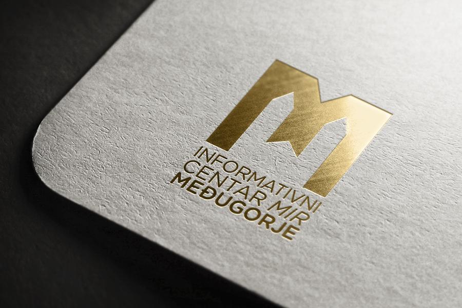 vizualni identitet informativni centar mir međugorje dizajn logotipa shift