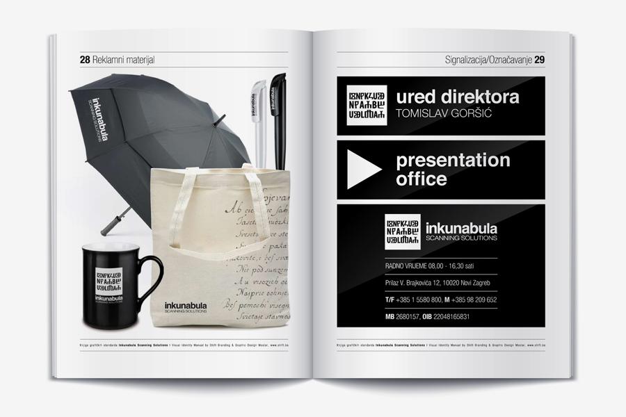 Vizualni identitet Inkunabula dizajn knjige grafičkih standarda shift.ba
