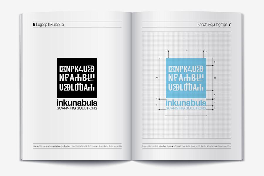 Vizualni identitet Inkunabula dizajn knjige grafičkih standarda