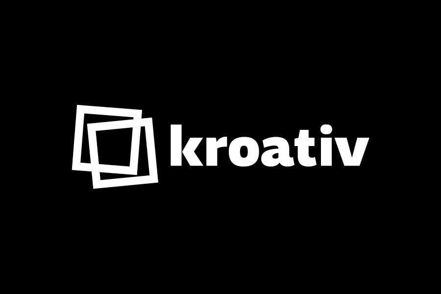 vizualni identitet kroativ, shift agencija mostar, negativ logotipa