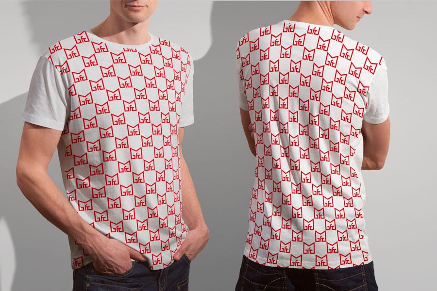 Visual Identity Design for Gymnasium High School logo t-shirt