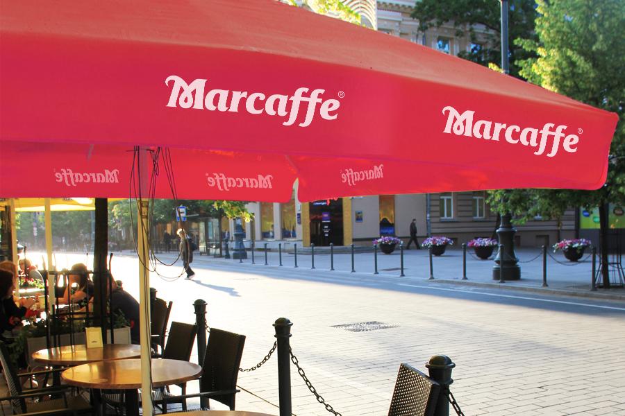 vizualni identitet marcaffe kava suncobran shift agencija mostar