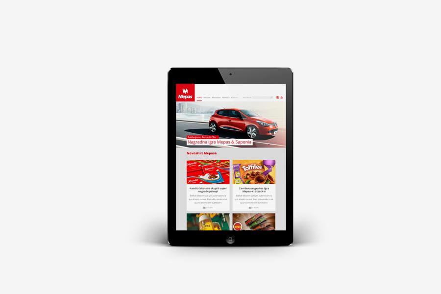 Dizajn web stranice  mepas široki brijeg