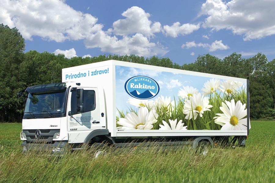 vizualni identitet mljekara rakitno dizajn oslikavanja vozila