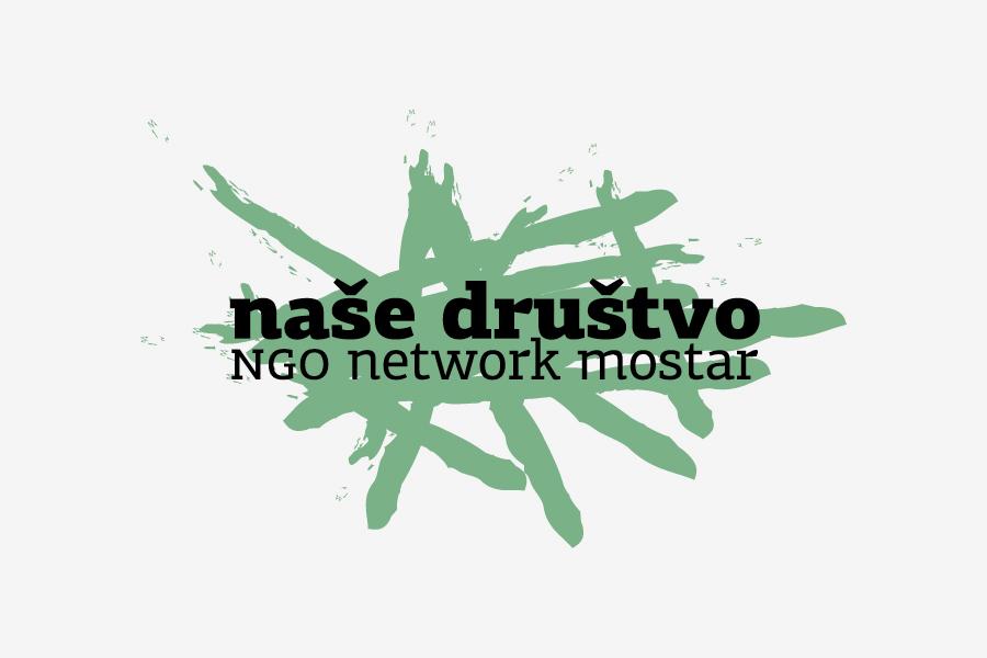 vizualni identitet nevladine organizacije naše društvo - dizajn logotipa