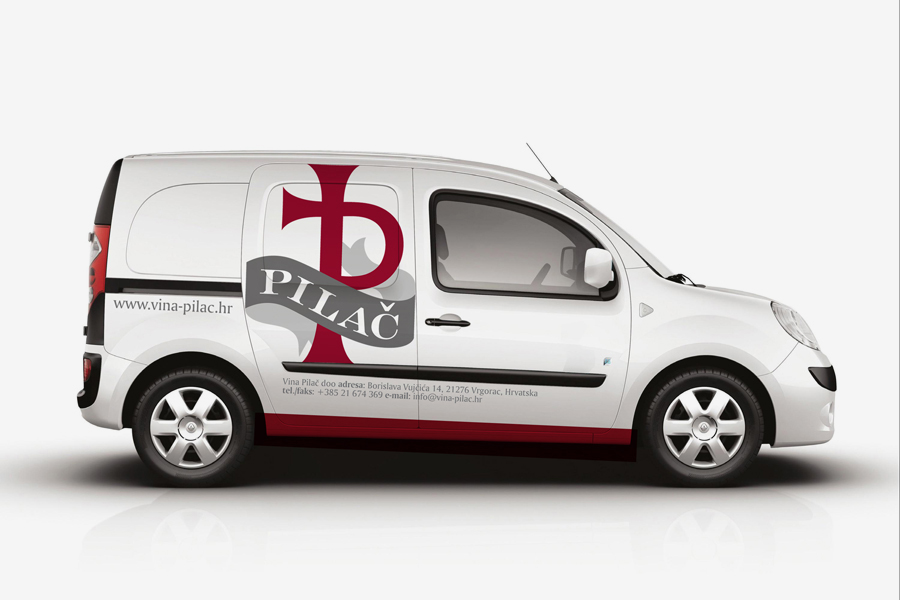 vizualni identitet vinarija pilač dizajn oslikavanja automobila