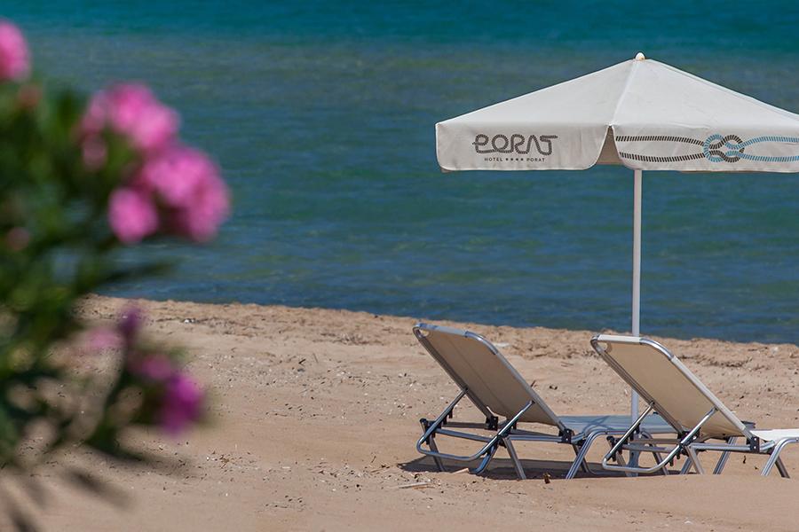 Vizualni identitet Hotela Porat primjena na suncobran