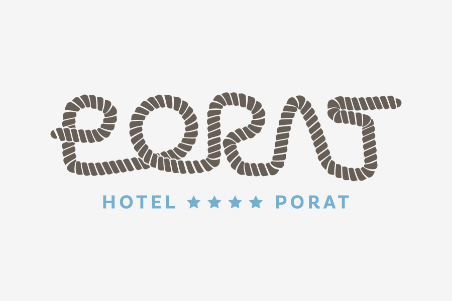 Visual identity of Hotel Porat graphic standard manual