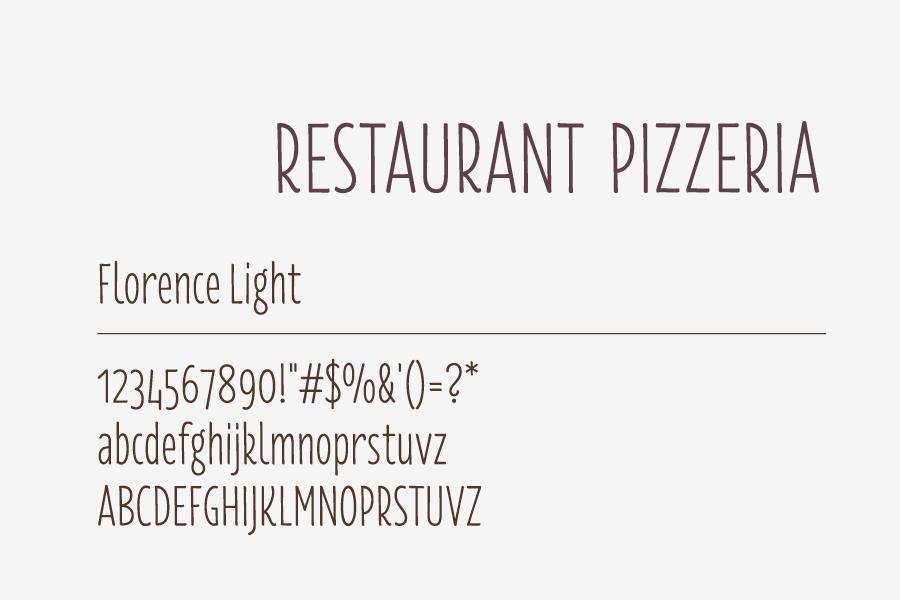 restoran rondo, grafički dizajn, tipografija