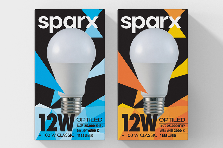 The verbal and visual identity of Sparx brand