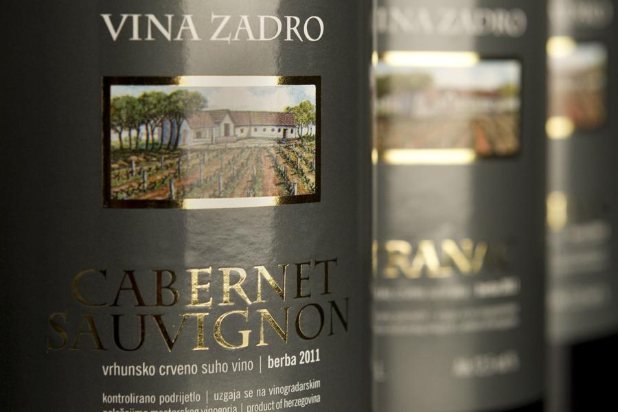 redizajn etiketa za vrhunska vina vinarija zadro