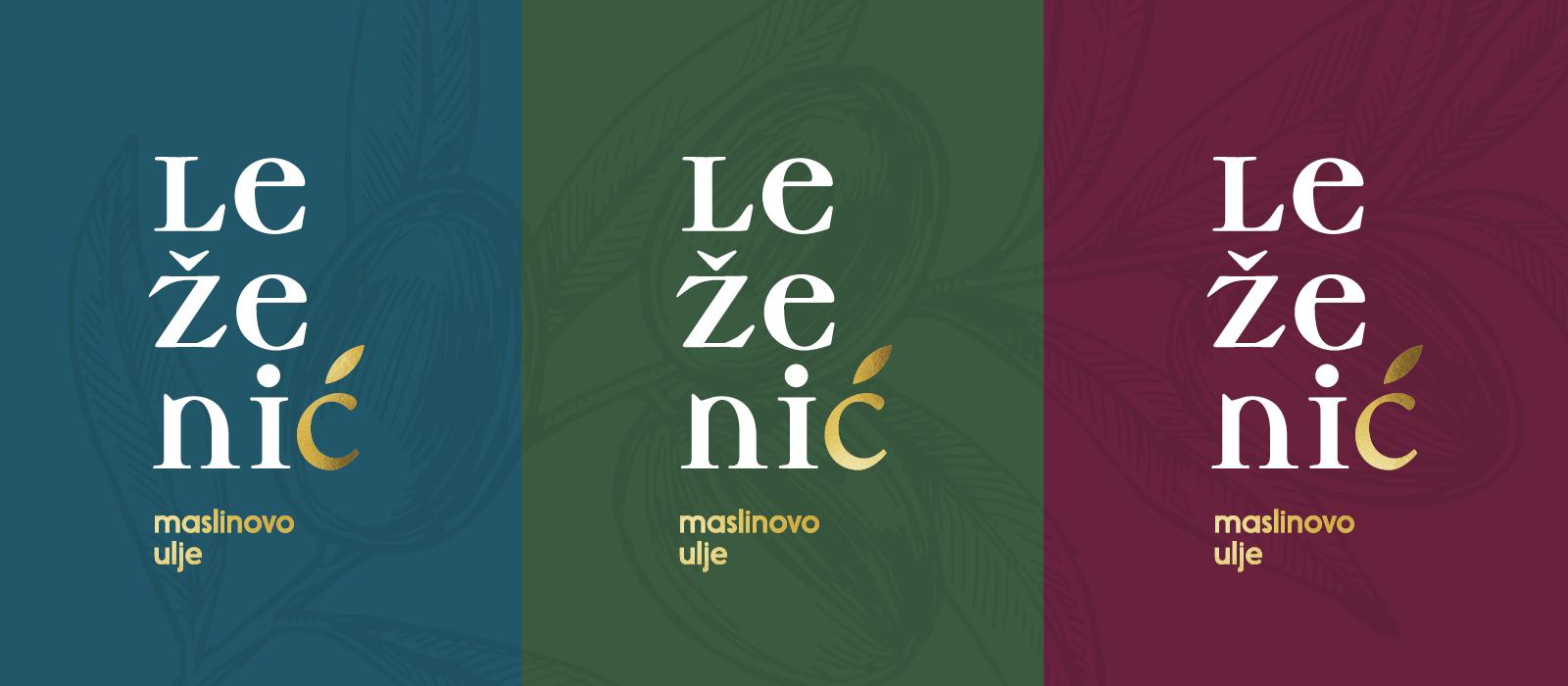 Brand identity of Leženić olive oil