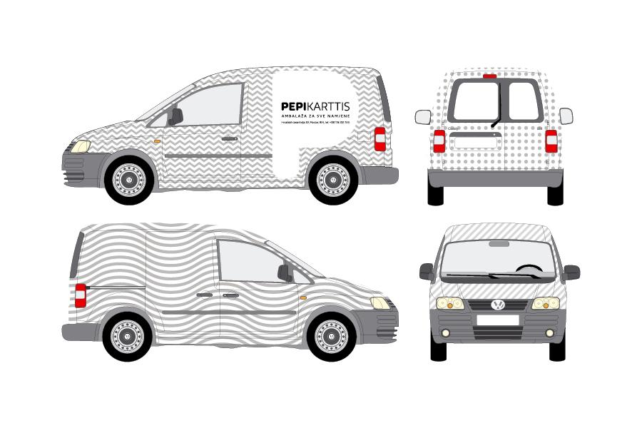 vizualni identitet pepi karttis shift mostar, službeno vozilo