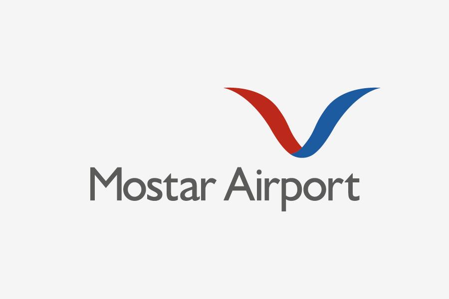 vizualni identitet zračna luka mostar logotip shift agencija