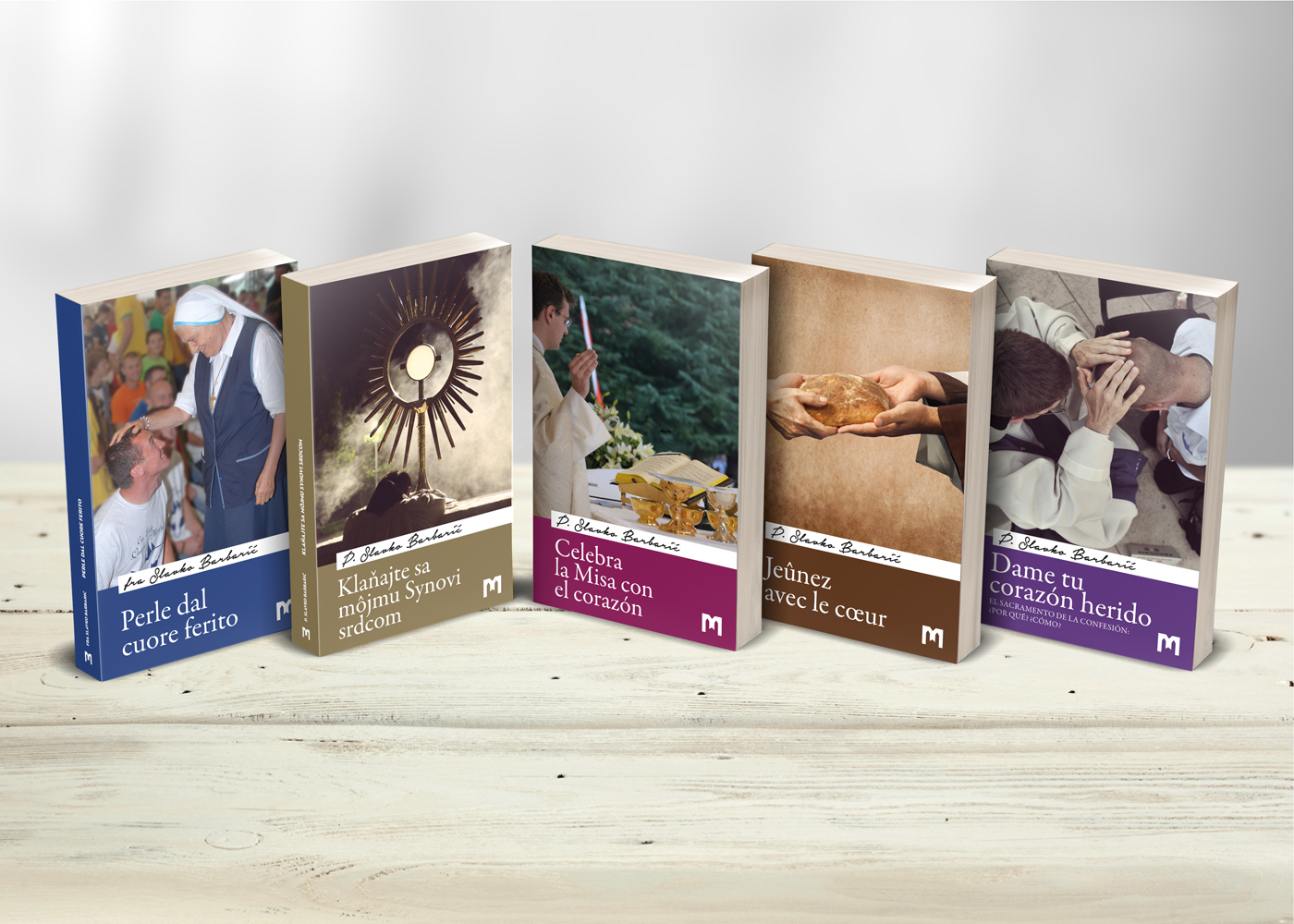 Cover design and layout for a series of books outlining Medjugorje spirituality