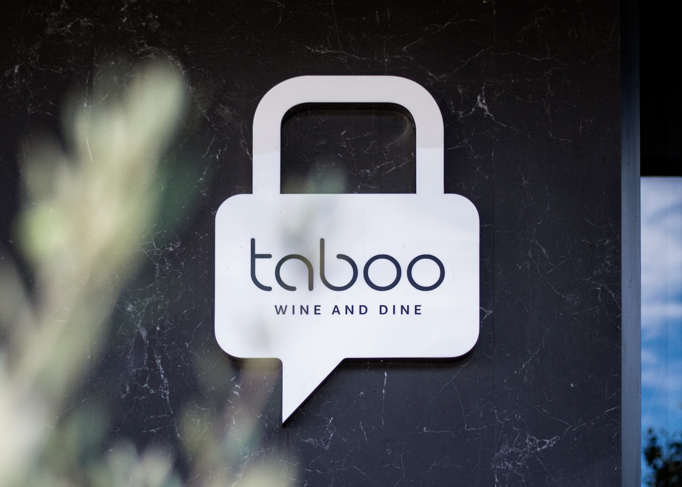 The verbal and visual identity of Taboo wine & dine restaurant