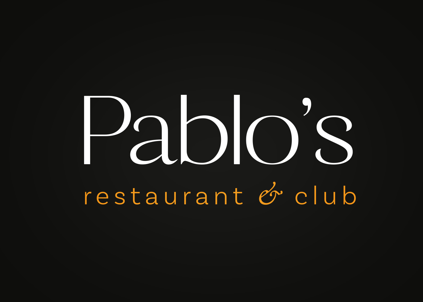 Visual Identity of Pablo's Restaurant & Club