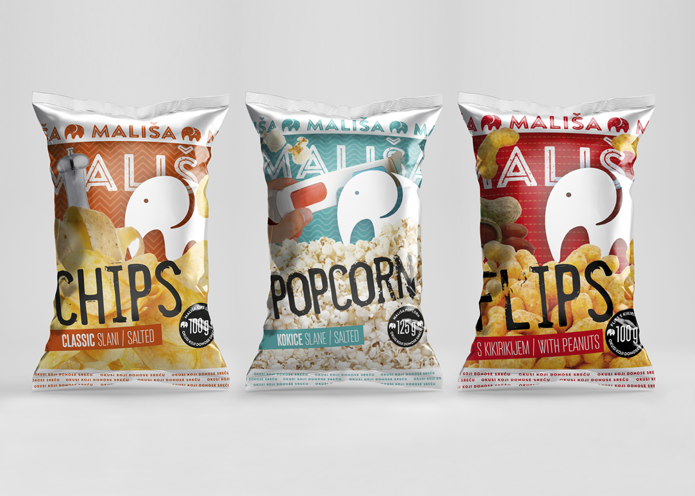 """Packaging design for """"Mališa"""" line of products"""
